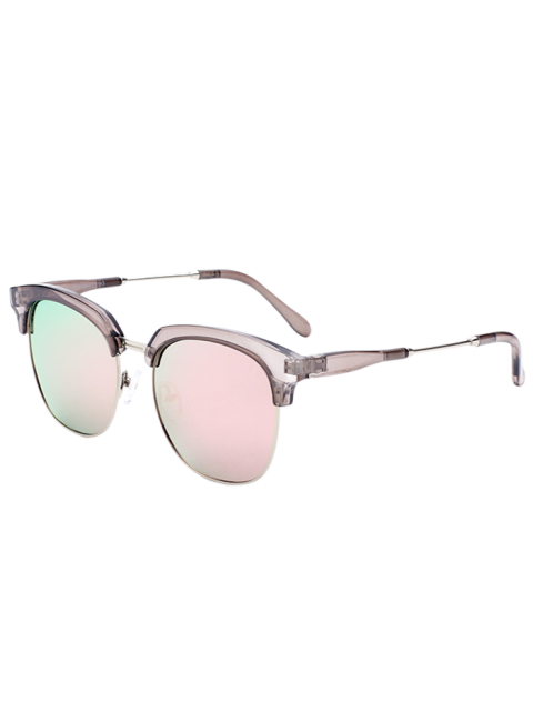 Metallic Panel Club de Mirrored Lunettes de soleil - Rose   Mobile