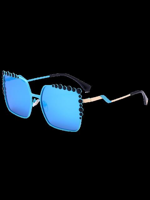 Insertar la burbuja Forma de gran tamaño gafas de sol de espejo - Azul  Mobile