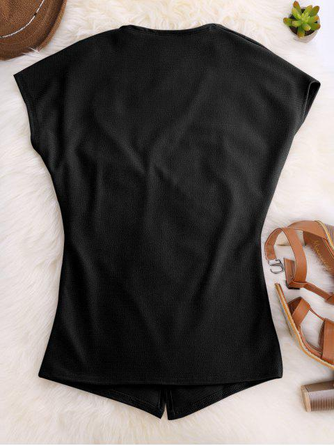 Court Croix manches avant Haut - Noir M Mobile