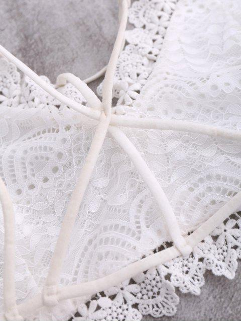 outfits Lace Bralette Crop Top - WHITE L Mobile