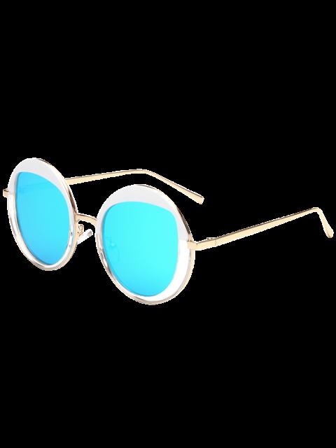 Gafas de sol redondas de metal con espejo - Azul Hielo  Mobile