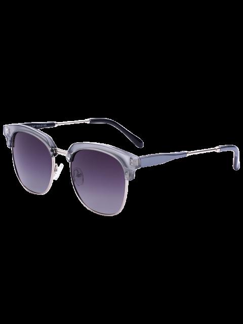 Metall Panel Golf Sonnenbrillen - Silberer Rahmen+Dunkel Brauene Linse  Mobile