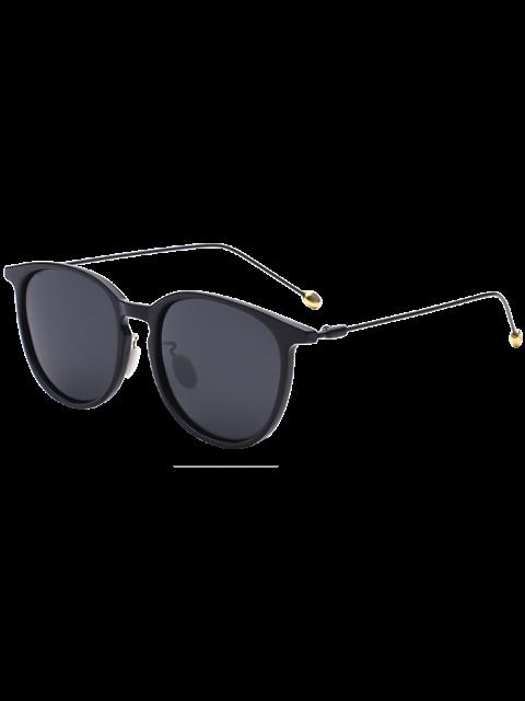 shops Butterfly Frame Skinny Leg Sunglasses - BLACK  Mobile