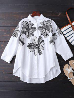 Namorado Camisa Bordada Floral - Branco Xl