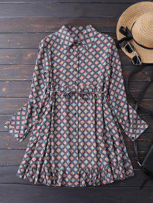 فستان زر أرجيل تونك شيرت - أزرق L