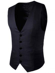الصدر واحدة فو صدرية جيب - أسود Xl