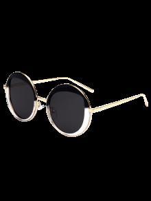 Gafas De Sol Redondas Metálicas - Negro