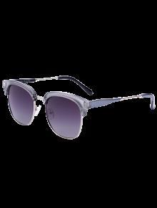Gafas De Sol Metálicas Del Panel De Golf - Marco De Plata + Lente Marrón Oscuro