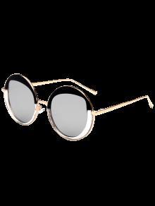 Buy Round Metallic Mirrored Sunglasses - SILVER