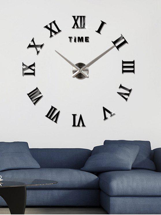 2019 3d Roman Numerals Diy Acrylic Mirror Clock Wall Sticker In