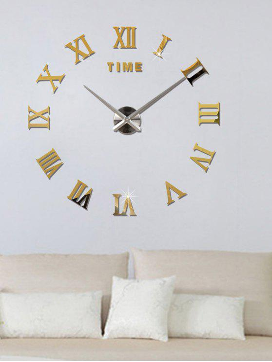 37 Off 2019 3d Roman Numerals Diy Acrylic Mirror Clock Wall