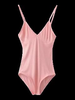 Cami Bodysuit Mit Tiefem Ausschnitt - Pink