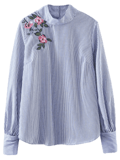 Chemise Floral à Rayures - Rayure M