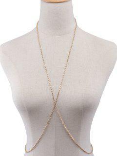 Chain Rhinestoned Body - Or