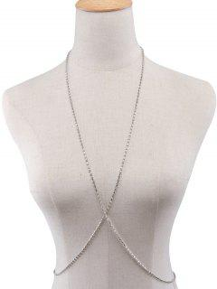Rhinestoned Body Chain - Silver