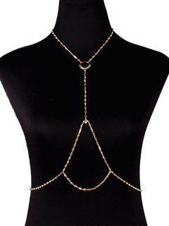 Embellished Circle Body Chain - Golden