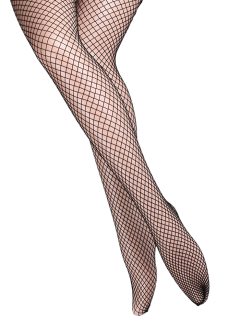 Hollow Out Fishnet Tights - Bright Black