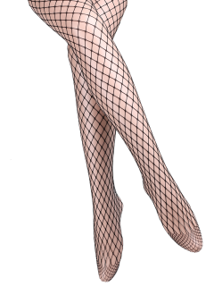 Hollow Out Fishnet Tights - Black