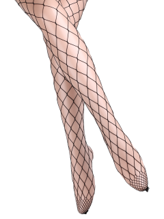 Hollow Out Fishnet Tights - Full Black