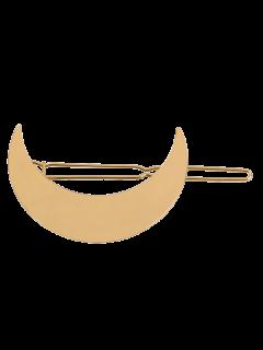 Embellished Moon Hairgrip - Golden