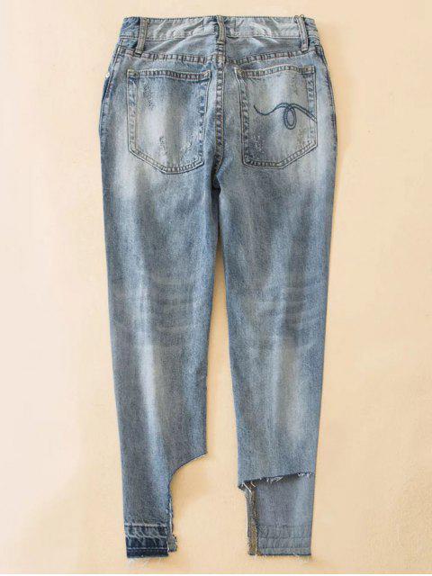 buy Distressed Boyfriend Jeans - BLUE S Mobile