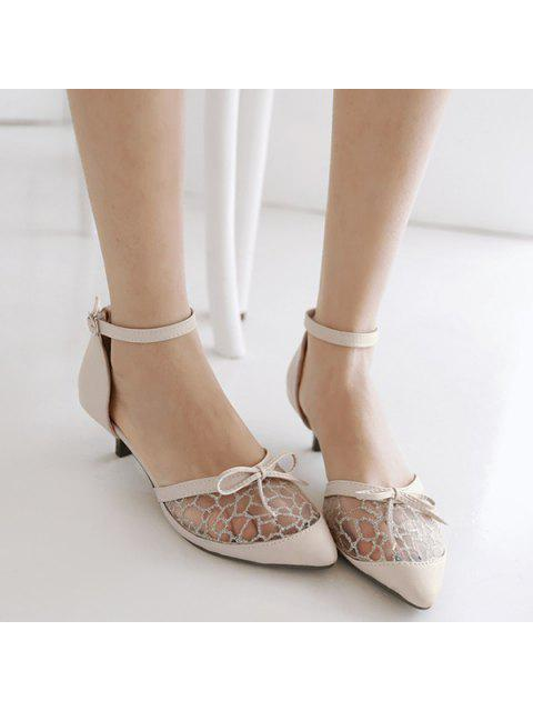 buy Bowknot Mesh Pumps -   Mobile