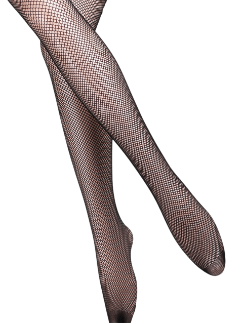 women Hollow Out Fishnet Tights - BLACK GREY  Mobile