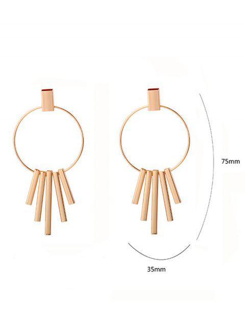 Boucles d'oreilles forme circle et barrière - Or  Mobile