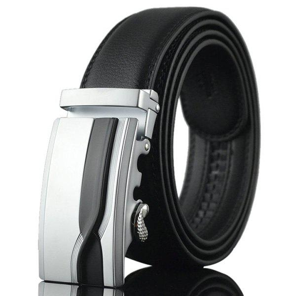Geometric Polissage Auto Buckle Ceinture large