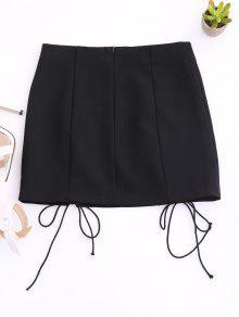 Punk Lace Up Mini Skirt BLACK: Skirts S | ZAFUL