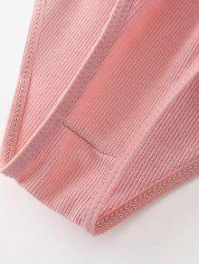 Combinaison col plongeant et bretelles rose p le body taille unique zaful - Combinaison rose pale ...