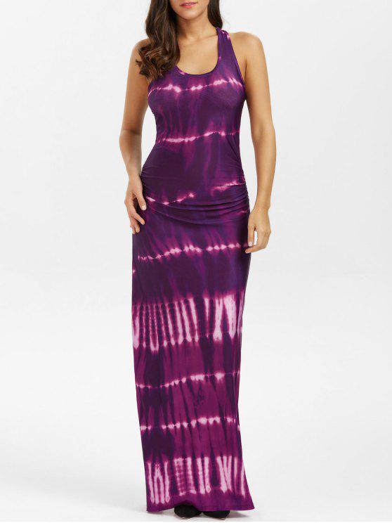 البوهيمي التعادل صبغ الوهم طباعة راسيرباك فستان ماكسي تانك - بيجونيا XL