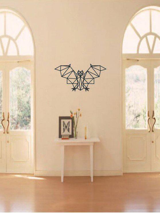 هندسي الخفافيش طباعة ماء جدار الفن ملصق - أسود 31 * 57.5CM