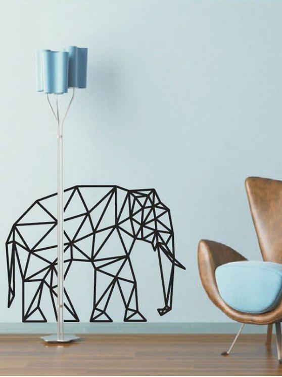 2018 Geometrische Elefant-Muster-Wand-Aufkleber von Schwarz 47*75CM ...