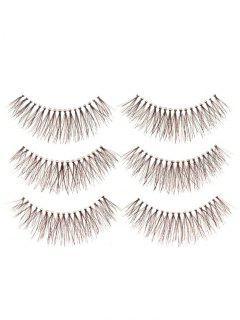 Fake Eyelashes With Glue - Black