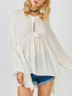 Dolman Sleeve Mini Beach Coverup - White S