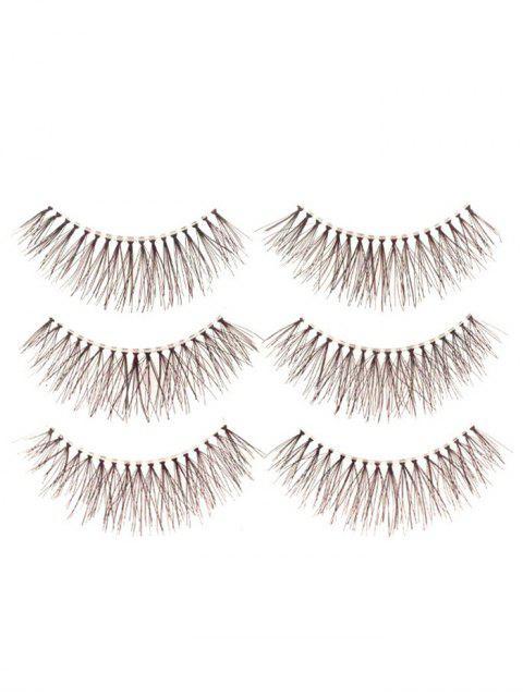 online Fake Eyelashes with Glue - BLACK  Mobile