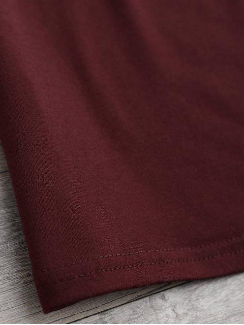 Lacer Superposition T-shirt - Rouge vineux  XL Mobile
