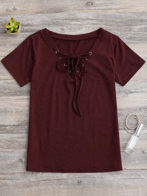 Ate Para Arriba Capas Camiseta - Vino Rojo S