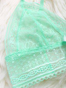 b88f260e67 2019 Crossover Lace Unlined Bra Set In GREEN S