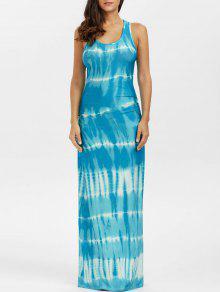 فستان ماكسي بوهيمي مصبوغ التعادل - البحيرة الزرقاء L