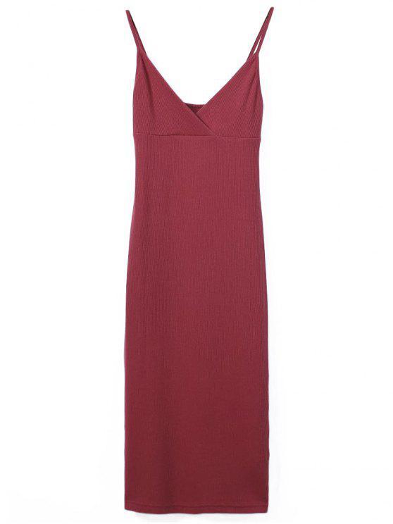 Slip Sobrepelliz Slinky vestido del tanque - Rojo M