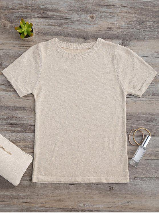 Glittered Knitting Top - Dorado Única Talla