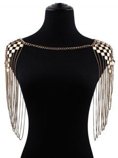 Fringed Geometric Shoulder Chain - Golden