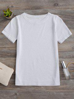 Glittered Knitting Top - Silver White