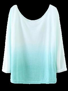 Ombre Cuello Del Barco De La Camiseta - Rosáceo Azul S