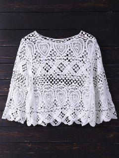 Crochet Laser Cut Top - White