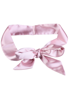Knotted Satin Sash - Light Pink