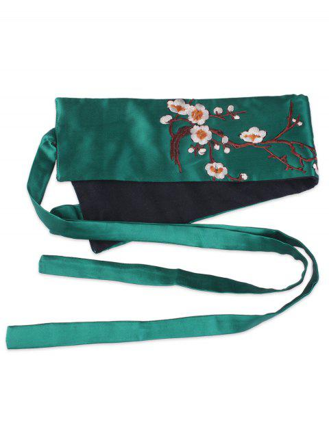 hot Wintersweet Blossom Embroidery Kimono Bowknot Waistbelt -   Mobile