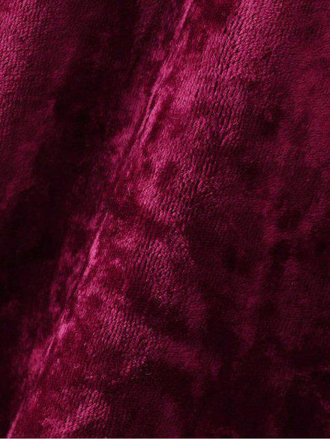 Crushed Velvet Tee - Bourgogne L Mobile